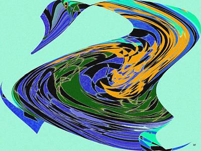 Vivacious Digital Art - Dancing Goose by Will Borden