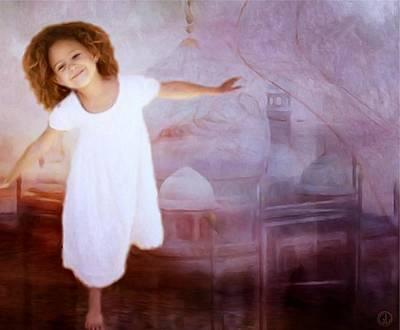 Girl Digital Art - Dancing In A Fairy Tale by Gun Legler