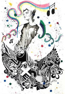 Dancing In Berlin Print by Oddball Art Co by Lizzy Love