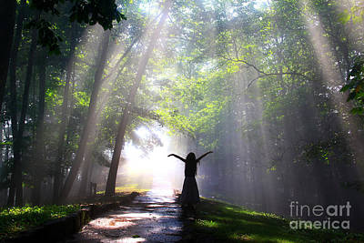 Stone Pathway Photograph - Dancing In God's Light Copyright Willadawn Photography by Melissa Petrey