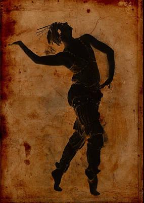 Dancing In Greek Print by Sarah Vernon