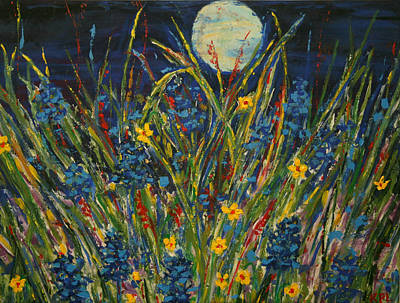 Dancing In The Moonlight Print by Kathy Peltomaa Lewis