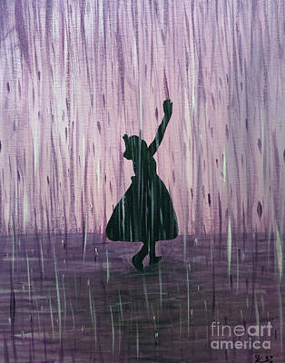 Shadow Dancing Painting - Dancing In The Rain by Kindra Design