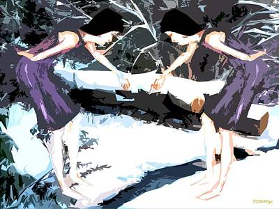 Snow-covered Landscape Mixed Media - Dancing In The Snow by Patrick J Murphy