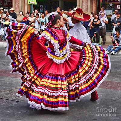 Mexican Fiesta Photograph - Dancing In The Streets Of Tj By Diana Sainz by Diana Sainz