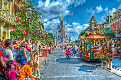 Magic Kingdom Photograph - Dancing In The Streets by Ryan Crane