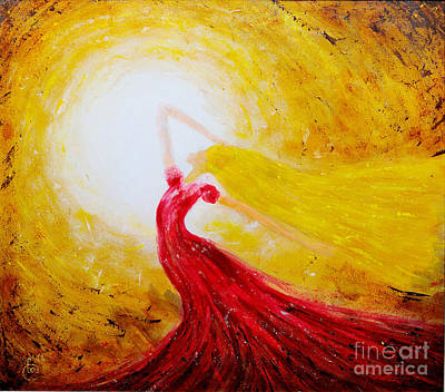 Dancing Girl Painting - Dancing In The Sun by Martin Capek