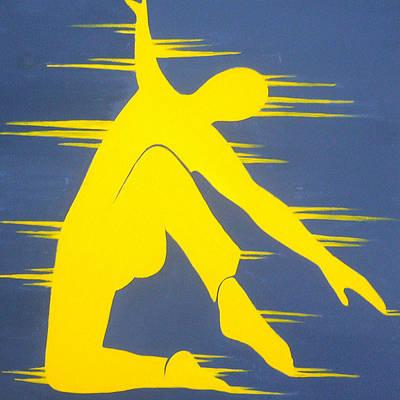 Music Painting - Dancing Man by Allison Liffman