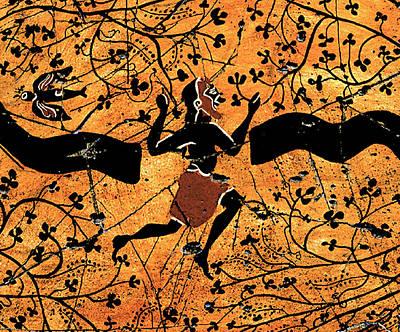 Black History Painting - Dancing Man - Study No. 1 by Steve Bogdanoff