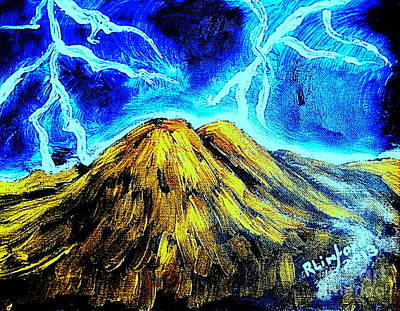 Dancing On Mount Olympus Original by Richard W Linford
