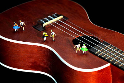 Surrealism Photograph - Dancing Party On A Guitar by Paul Ge