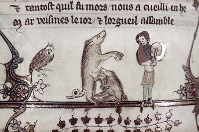 Hind Painting - Dancing Pig, 14th Century by Granger
