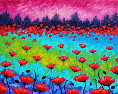 Meadow Painting - Dancing Poppies by John  Nolan