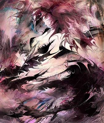 Anger Digital Art - Dancing The Black Dress by Rachel Christine Nowicki