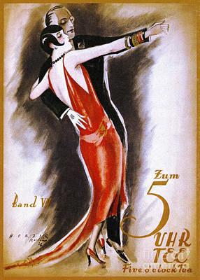 Dancing The Tango Print by Granger