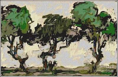 Landscape Painting - Dancing Trees Dt1 by Pemaro
