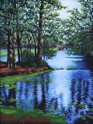 Florida Landscape Painting - Dancing Waters by Penny Birch-Williams