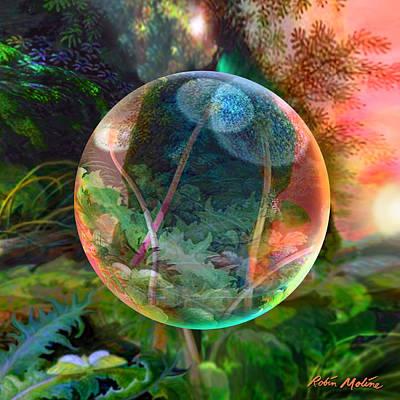 Dandelion Digital Art - Dandelion Wine by Robin Moline