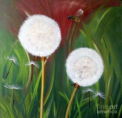 Dandelion Digital Art - Dandelions In The Undergrowth by Merrin Jeff