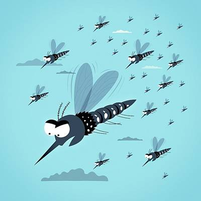 Dangerous Mosquitos Print by Mark Airs
