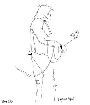 Austin Drawing - Dangerous Spirit by Deb Yager