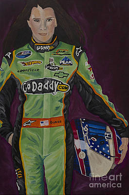 Danica Patrick Painting - Danica Patrick by Cindy P Canty