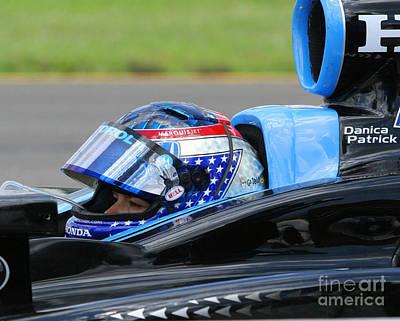 Danica Patrick Ready To Race Print by Patrick Morgan