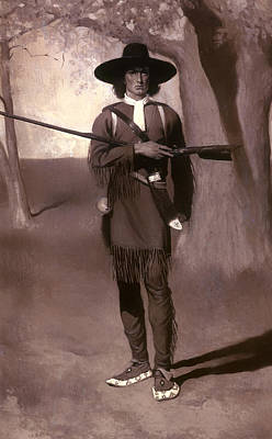 Musket Painting - Daniel Boone Pioneer Scout by Mountain Dreams