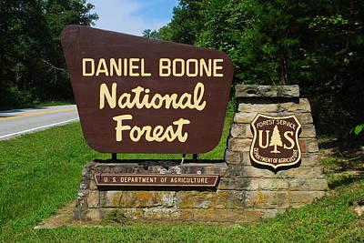 Daniel Boone Print by Frozen in Time Fine Art Photography