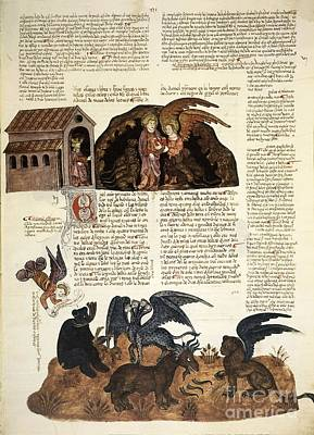 Daniel In The Lions' Den, 1430 Artwork Print by Patrick Landmann