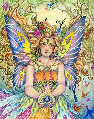 Fairy Art Painting - Danielle by Sara Burrier