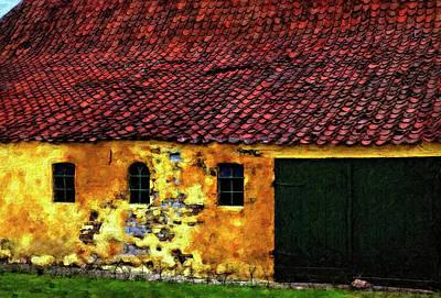 Danish Barn Impasto Version Print by Steve Harrington