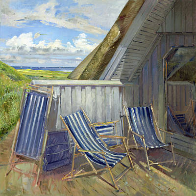 Danish Blue, 1999-2000 Oil On Canvas Print by Timothy Easton