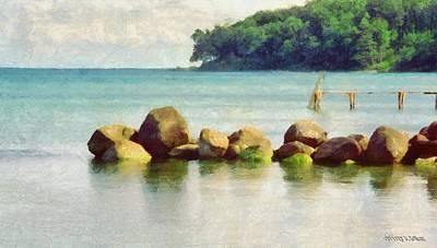 Jeff Digital Art - Danish Coast On The Rocks by Jeff Kolker