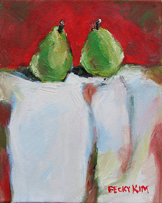 Loose Stylist Painting - Danjour Pears  by Becky Kim