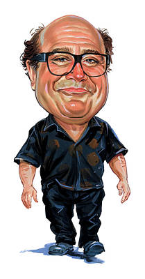 Caricatures Painting - Danny Devito by Art