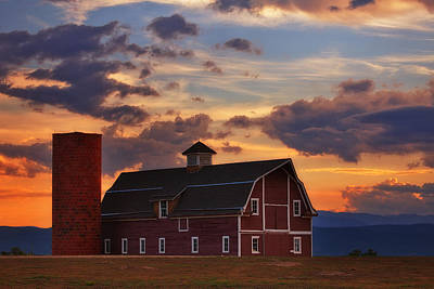 Danny's Barn Print by Darren  White