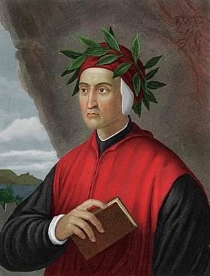 Dante Alighieri Print by Maria Platt-evans