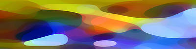 Dappled Light Panoramic 1 Print by Amy Vangsgard