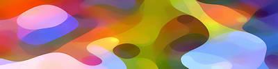 Abstract Forms Digital Art - Dappled Light Panoramic 2 by Amy Vangsgard