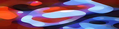Abstract Forms Painting - Dappled Light Panoramic 3 by Amy Vangsgard