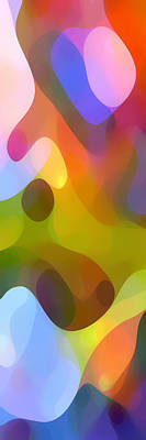 Colorful Abstract Painting - Dappled Light Panoramic Vertical 3 by Amy Vangsgard