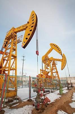 Daqing Oil Field Print by Ashley Cooper