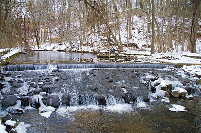 Darby Creek Waterfall Print by Bill Cannon