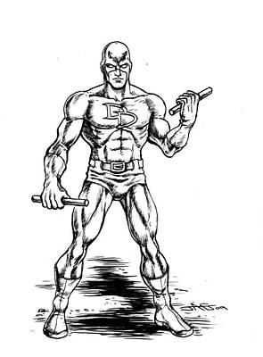 Comic Books Drawing - Daredevil by John Ashton Golden