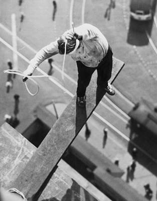 Balance In Life Photograph - Daredevil Workout by Underwood Archives