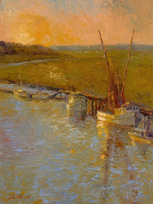Darien At Dusk Print by John Albrecht