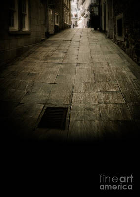 Quebec Streets Photograph - Dark Alley In Old Historic City by Edward Fielding