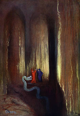 Dark Cavern, 1906 Print by Hermann Hendrich