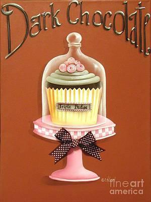 Dark Chocolate Cupcake Print by Catherine Holman
